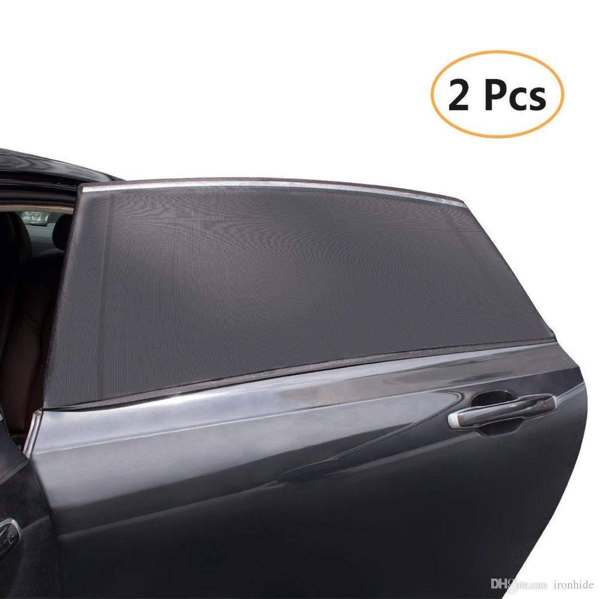 2 Unidades / pacote Car-Styling Car Sun Sombra Tampa Da Janela Sombrinha  Cortina de Proteção UV Escudo Visor De Malha De Poeira Malha de Janela Do