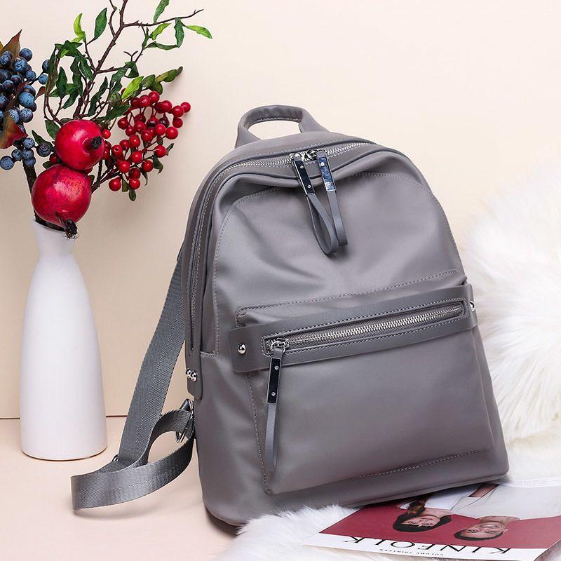 25272214dfcd 2019 FashionFashion Women Backpack Nylon Backpacks For Teenage Girls Casual  School Daypack Large Capacity Men Shoulder Bags Female Mochila Swiss Gear  ...