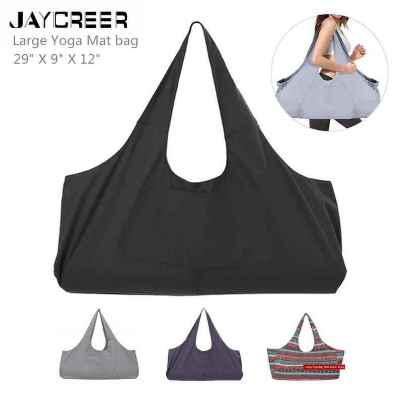 2019 JayCreer Large Yoga Mat Tote Sling Carrier With Side Pocket ... 1fa760a4ec22c