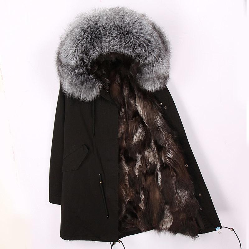 cd6487932c4b 2019 2018 New Fashion Women Luxurious Large Raccoon Fur Collar Hooded Coat  Warm Fox Fur Liner Parkas Long Winter Jacket Top Quality D19011601 From  Shen06