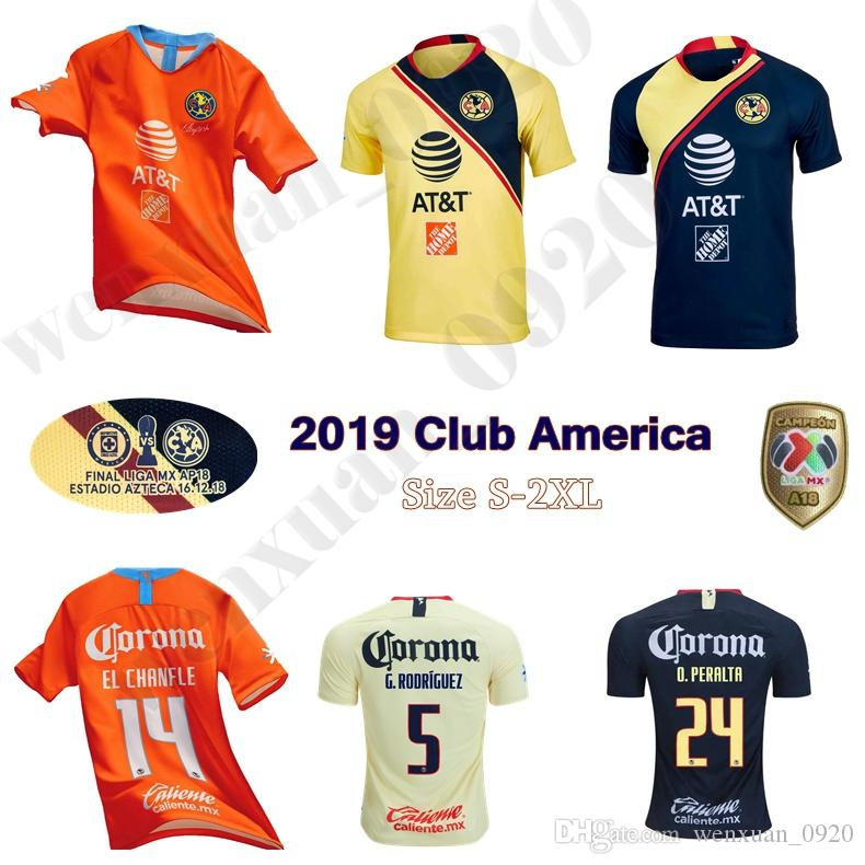 the latest 7dfad cb0f2 2018 2019 Club America jerseys 18 19 home away soccer jerseys MENEZ  D.BENEDETTO SAMBUEZA P.AGUILAR MARTINEZ football shirts
