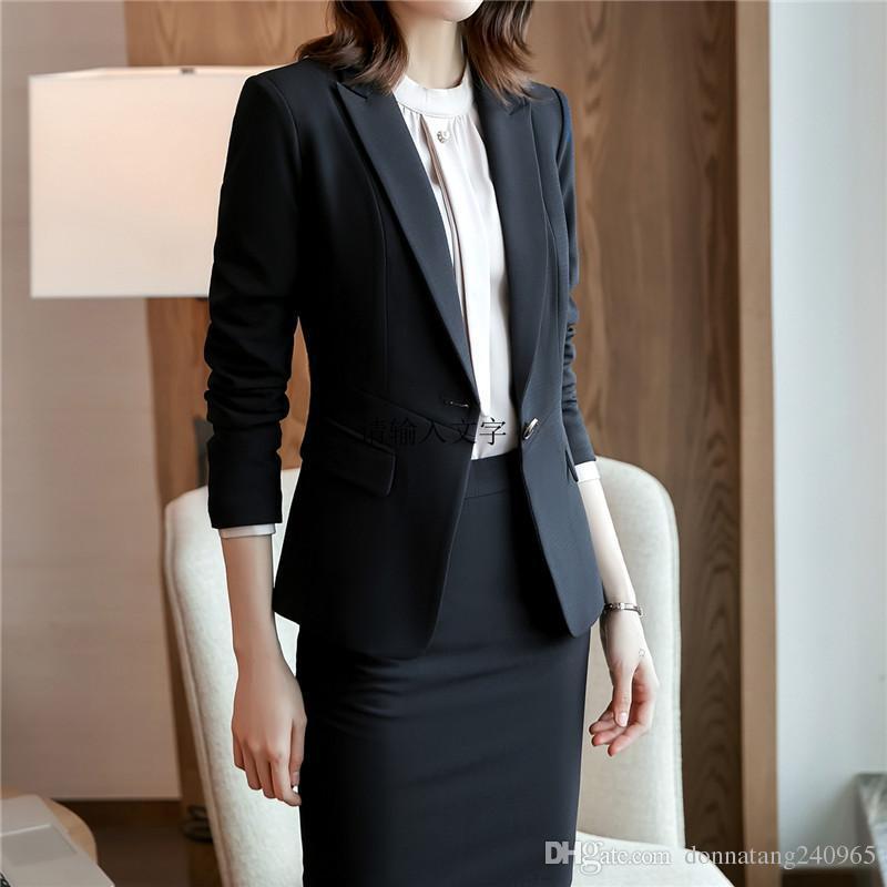 Fashion Style Custom Navy Blue Work Bussiness Formal Elegant Women Suit Set Blazers And Pants Office Suits Ladies Pants Suits Trouser Suits Great Varieties Pant Suits Suits & Sets