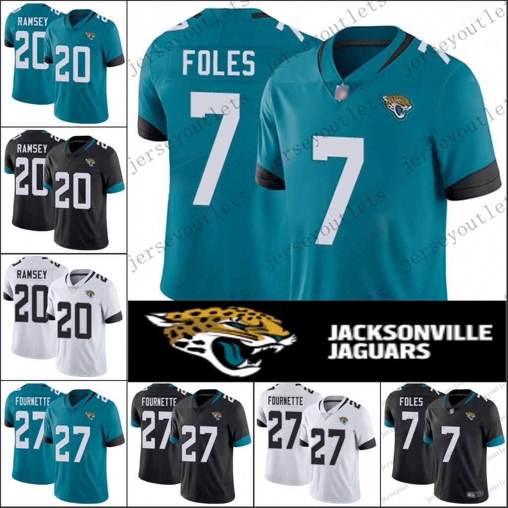 888dd7b4396 2019 7 Nick Foles Limited 27 Leonard Fournette Jaguars Jersey 20 Jalen  Ramsey 5 Blake Bortles Football Jerseys 01 From Jerseys online
