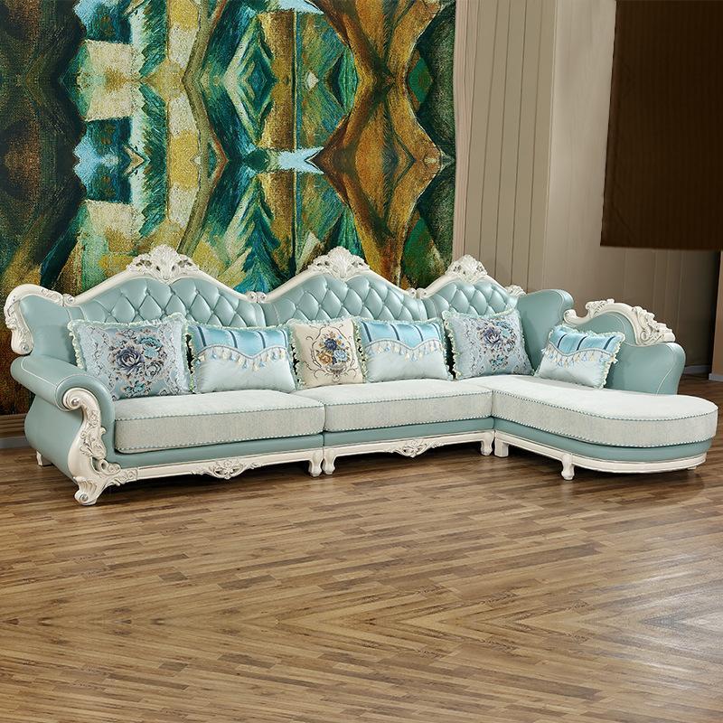 Divano in stile europeo di lusso Set mobili per soggiorno Cina