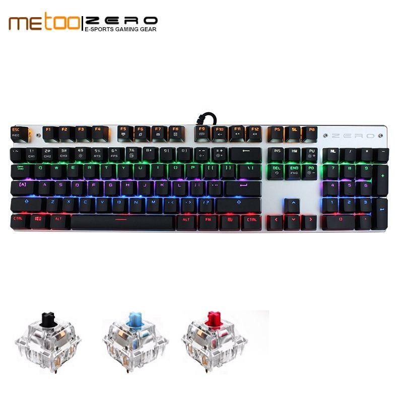 5ddfa7ed3b3 Metoo Edition Mechanical Keyboard 87 104 Keys Blue Red Black Switch Gaming  Keyboards For Tablet Desktop Russian/Hebrew/Arabic Small Keyboard Small  Keyboards ...