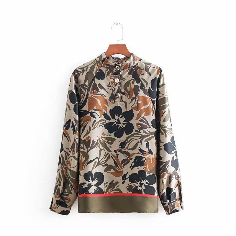 673d9a1888 2019 Mulheres Vintage Flor Impressão Casual Kimono Blusa Blusa Camisa  Mulheres Gola Chique Blusas Femininas de Negócios Tops Ls2908 Y190510