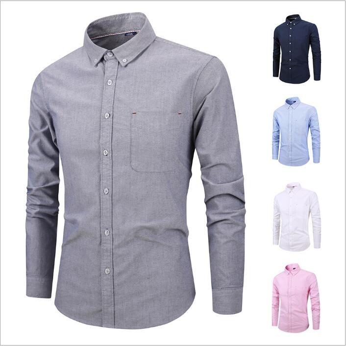d1754e5a873 2019 Men S Designer Shirts Plaid Dress Shirts Striped Business Retro  Fashion Tops Long Sleeve Slim Shirt Summer Blouses Tees Men S Clothes B4254  From ...