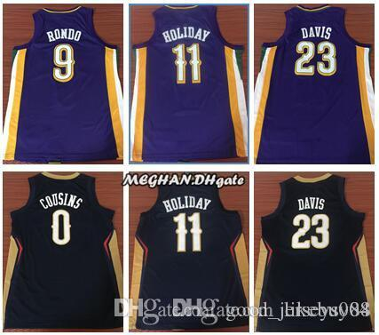 2019 New Orleans Jersey Pelicans 23 Anthony Davis Blue 11 Jrue Holiday Stitched Red White 0 Demarcus Cousins Basketball Jerseys