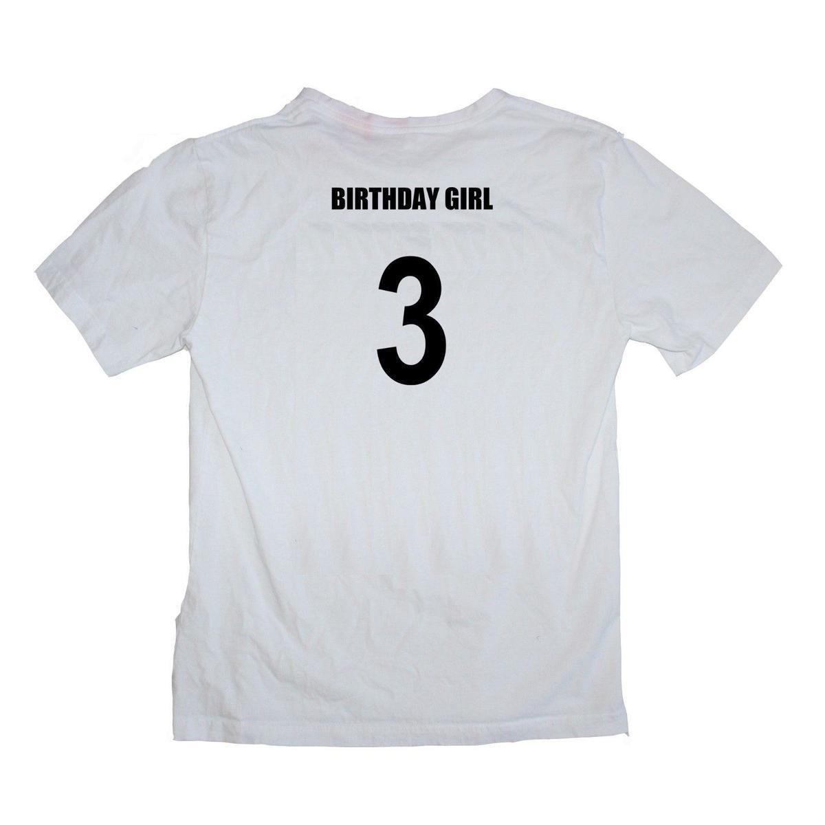 Birthday Girl 3rd Third Three 3 Year Old Female Baby Shirt Many Colours Crazy Designs A Day From Jie60 1467