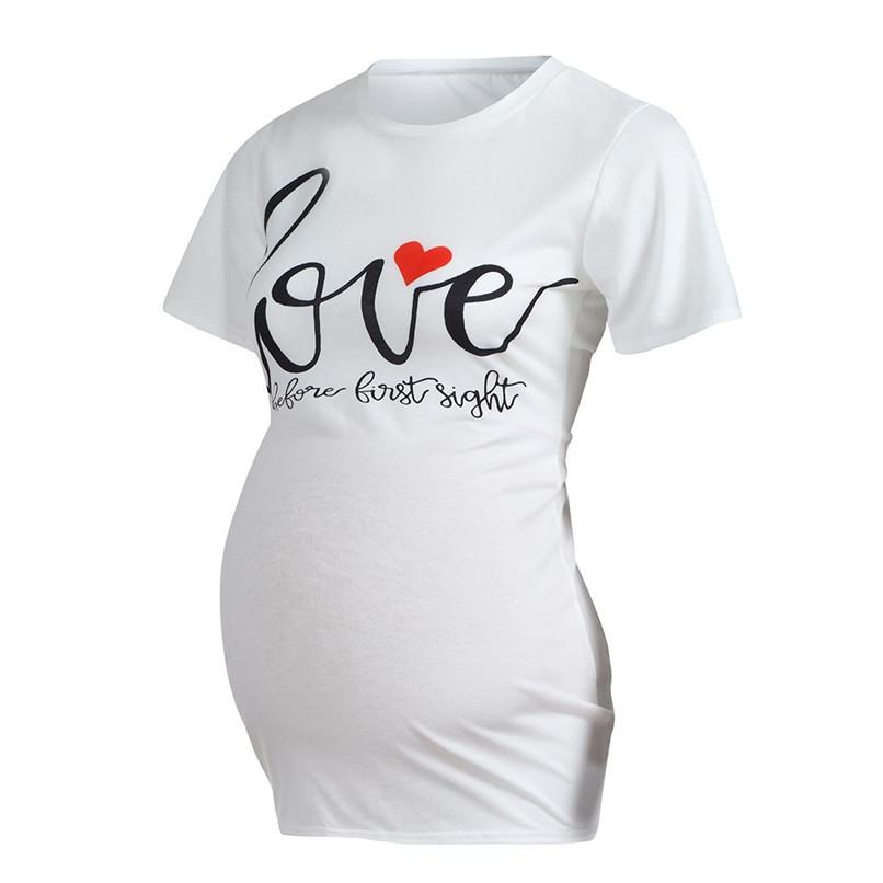 05febaad52dc7 2019 Maternity Clothes Pregnant Clothes Women Maternity Letter Printed  Short Sleeve Top T Shirt Maternity Tops Hamile Giyim Ja10 From Zerocold01,  ...