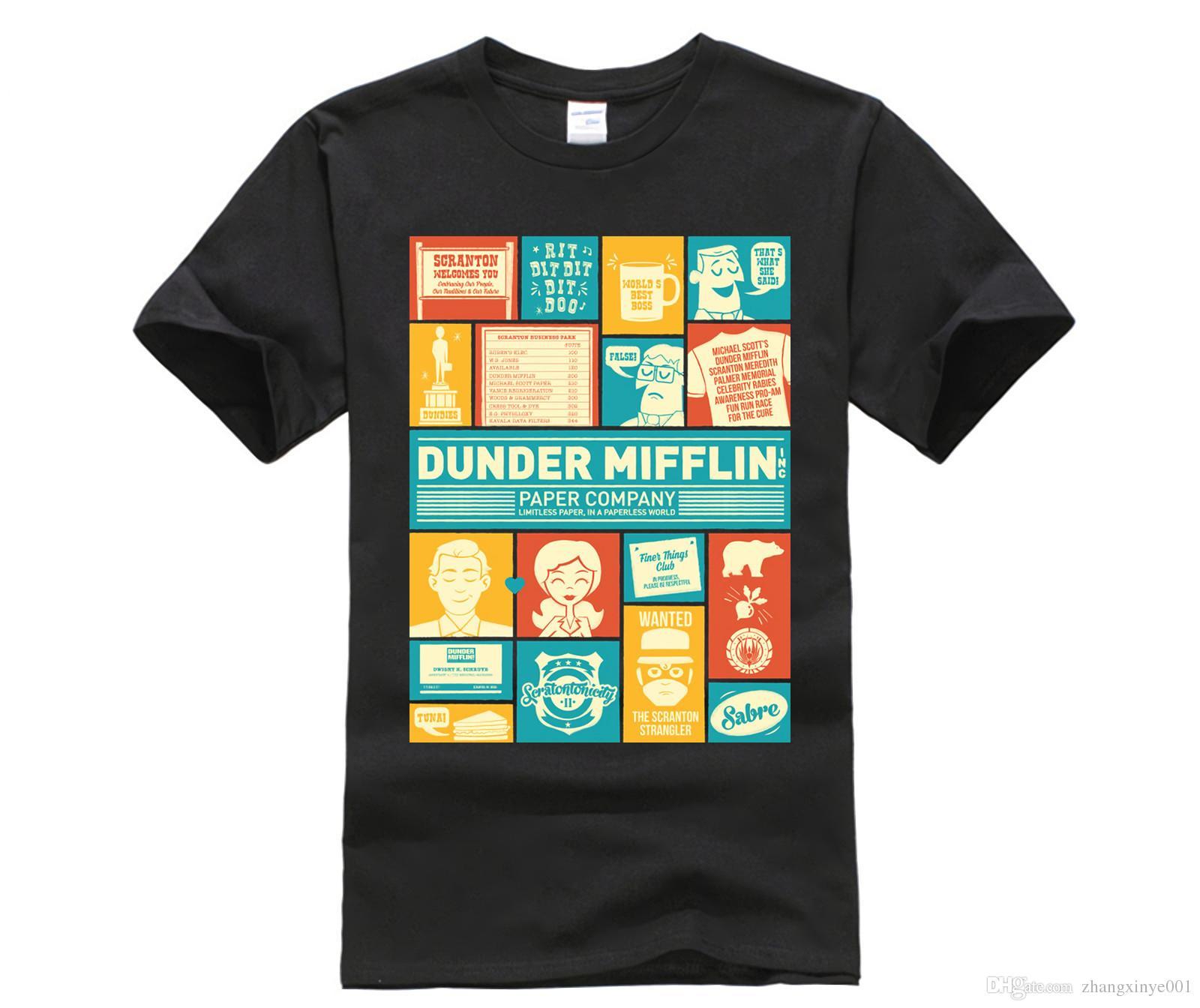 100 Cotton O Neck Printed T Shirt Dunder Mifflin T Shirt Poker T
