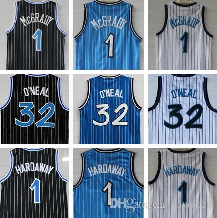 High-Quality 32 O'Neal Jersey Penny 1 Hardaway Jerseys Tracy 1 McGrady Jerseys Stitched College Shirts Mens Vince 15 Carter Shirt