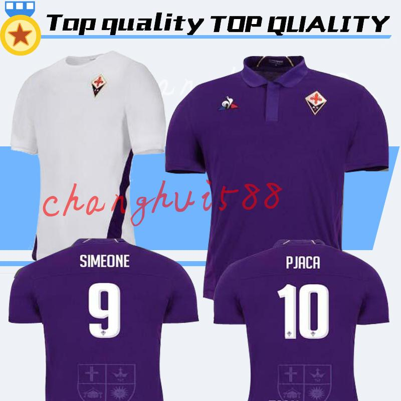 brand new 4ae40 11356 new 18 19 Fiorentina SOCCER JERSEY HOME purple 2018 2019 PJACA DIKS CHIESA  VERETOUT GERSON SIMEONE football shirts top quality customize