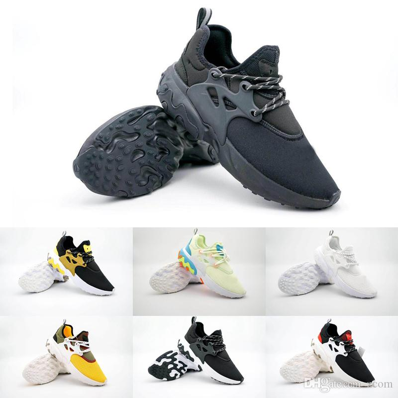 2019 Presto React Running Shoes Epic React Element 87 Black Red White  Yellow Women Mens Trainers Sneakers ChaussuresZapatillas 36 45 Girls  Running Shoes ... dc235d3ef55c