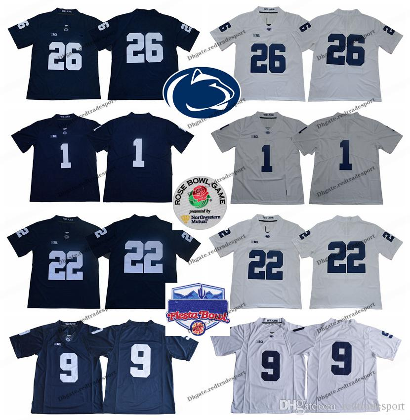 size 40 dad6e edb54 2018 Penn State Nittany Lions 26 Saquon Barkley 9 Trace McSorley Stitched  College Football Jerseys Saquon Barkley Jersey Rose Bowl Fiesta