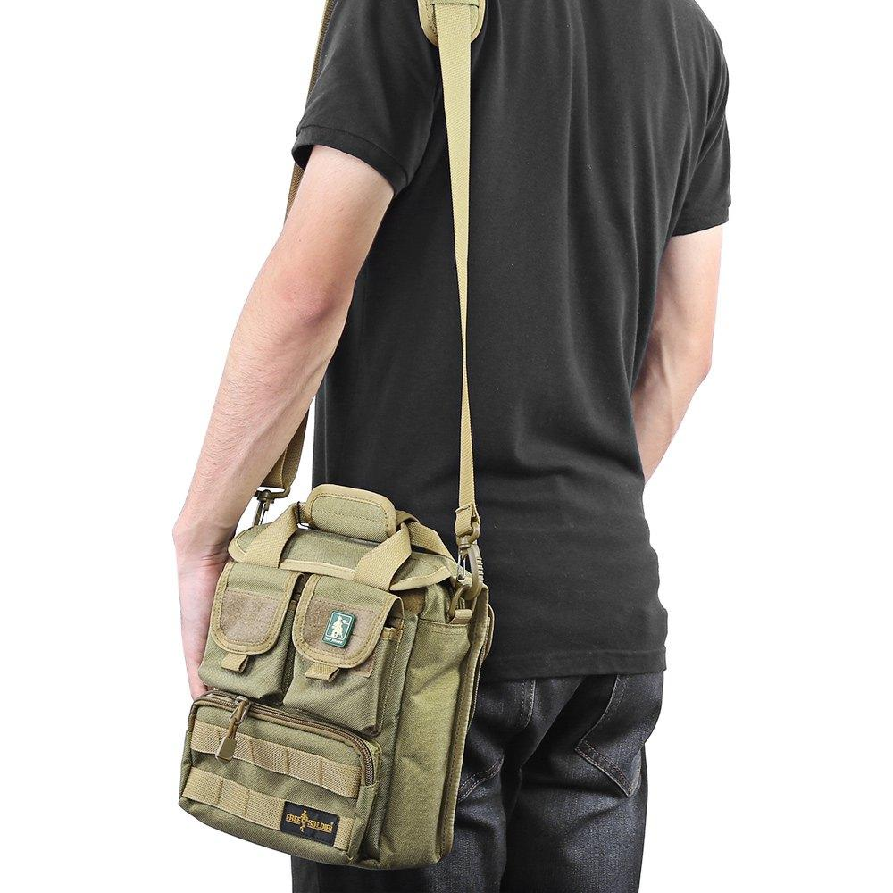 Free Soldier 2016 New Arrival 100% Cordura Material YKK Zipper Hiking&Camping Single Shoulder Bags Men's Tactical Handy Bags