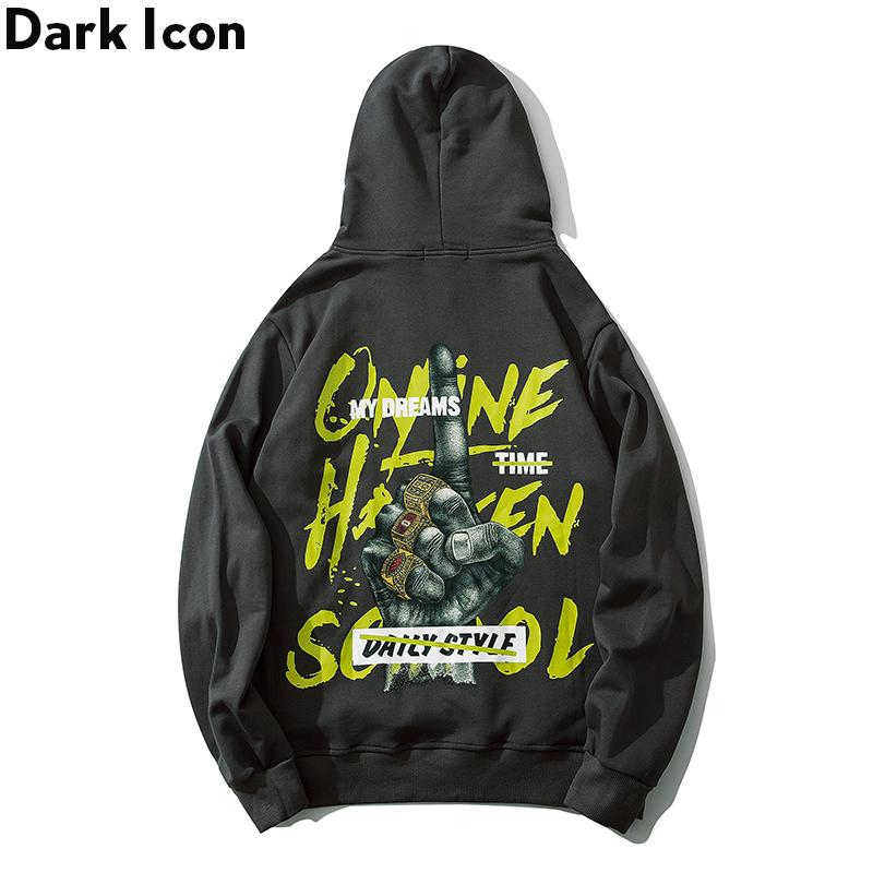 Dark Rap Hoodie Men Pullover Printed Men's Sweatshirts and Hoodies Streetwear Clothes