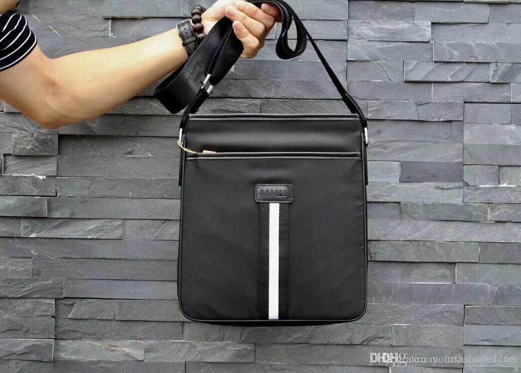 a3ac1a35d7d5 2019 новый мужской повседневный портфель, кожаная сумка, люксовый бренд, модная  тенденция, простая атмосфера, высокое качество, кожаная сумка, ...