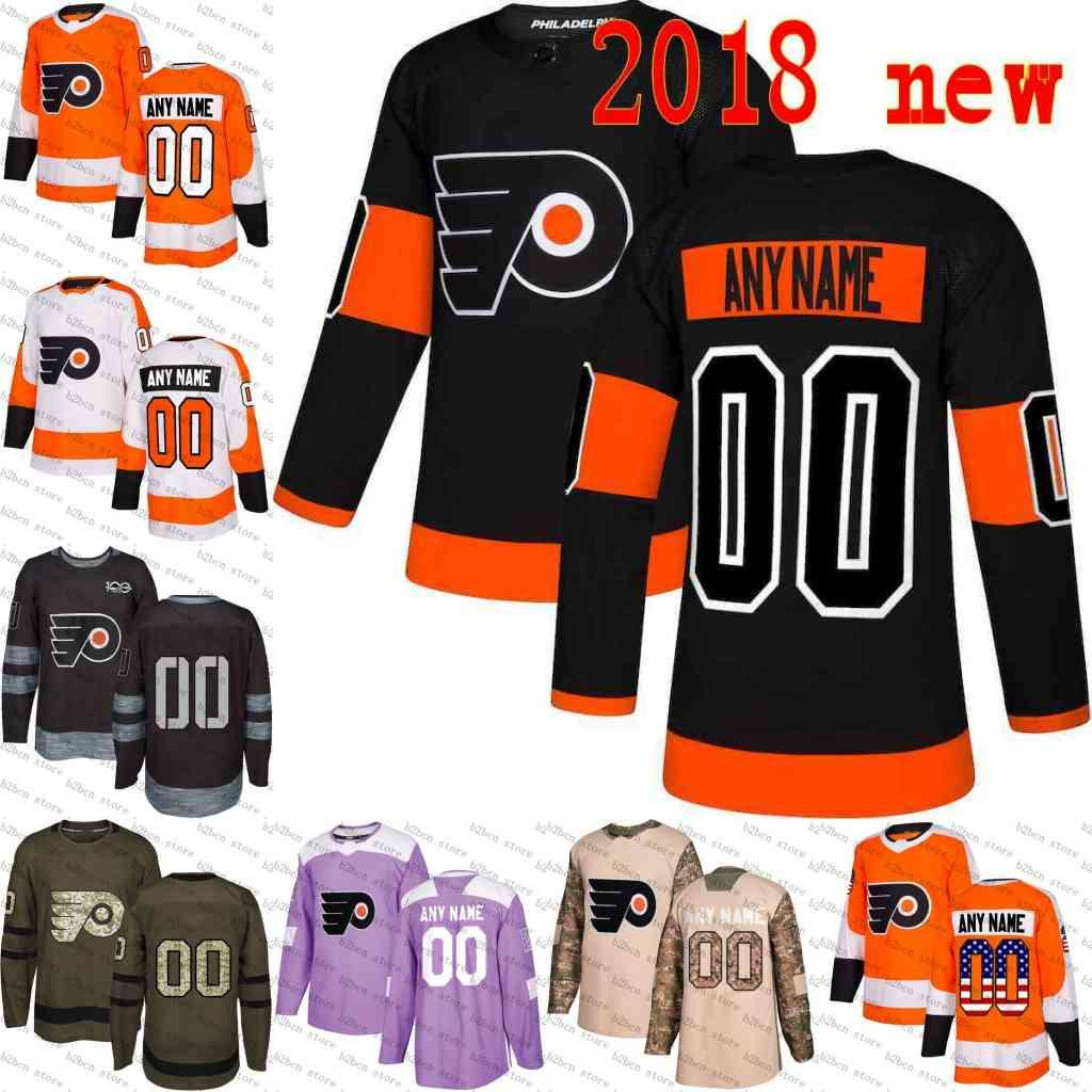 best sneakers 74a51 079f3 2019 Stadium Series 28 Claude Giroux Custom Philadelphia Flyers mens  Customized White Black purple camo gold Hockey Jerseys Stitched S-3XL