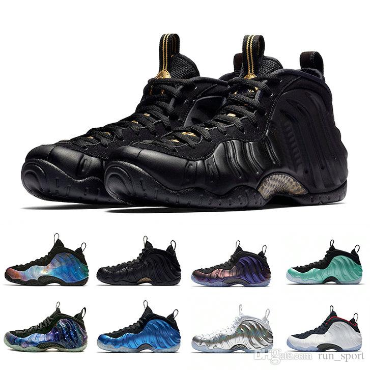 separation shoes a5dfe 4d902 Compre Nike Air Foamposites Foamposite Sequoia Negro Metallic Gold Penny  Hardaway Hombres Zapatos De Baloncesto Espuma Uno Galaxy Alternativa 1.0  2.0 OG ...