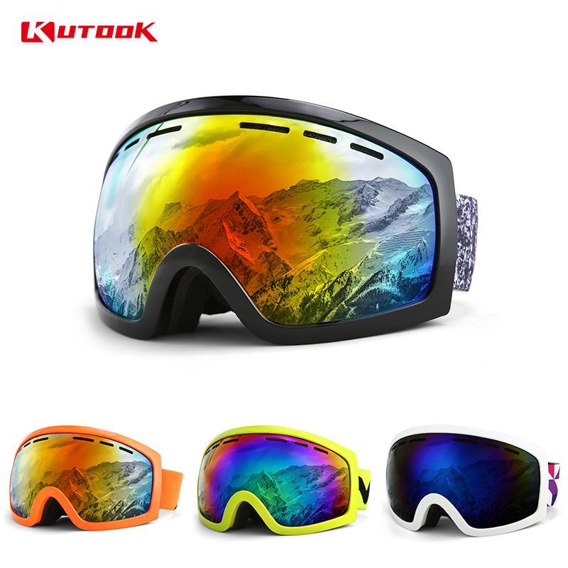 fb33090f48 Compre KUTOOK Lentes Dobles Gafas De Esquí Gafas De Snowboard Protección UV  Hombres Mujeres Máscara De Nieve Invierno Moto De Nieve Equipo De Esquí De  ...