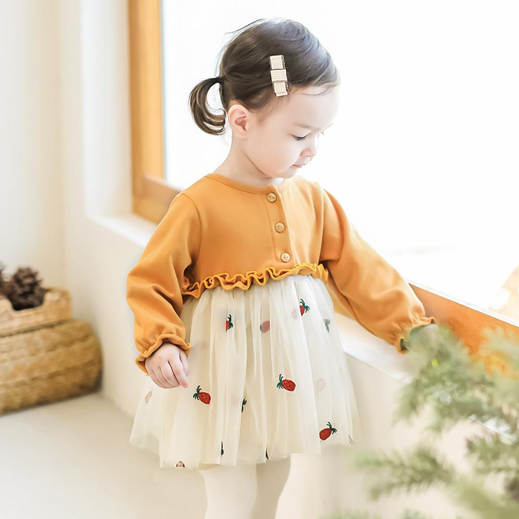 890416e0fe721 2019 New Hot princess dress Autumn Infant kids children Baby Girls clothes  Party Lace Tutu Princess Dresses Clothes Outfits