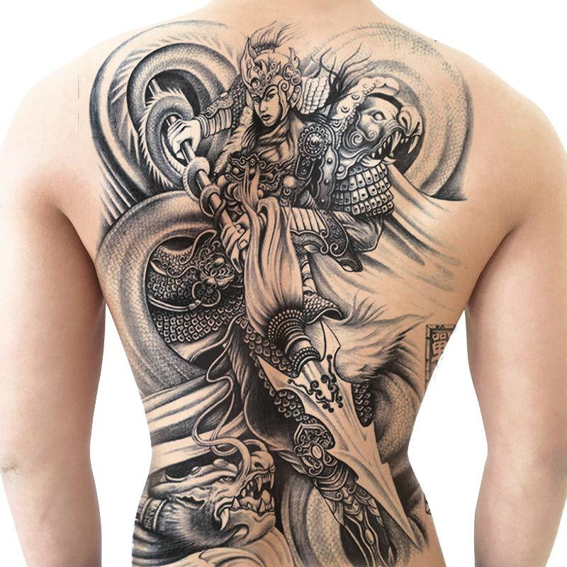 Brothers Full Of Back Tattoo Stickers Big Picture Waterproof Men And ...