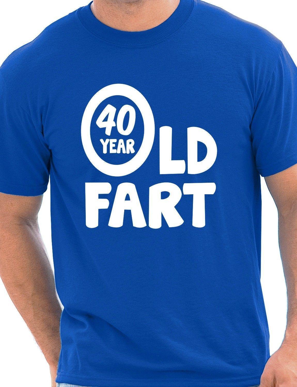40th Geburtstag 40 Jahre Alt Furz Lustig Erwachsene Herren T Shirt S
