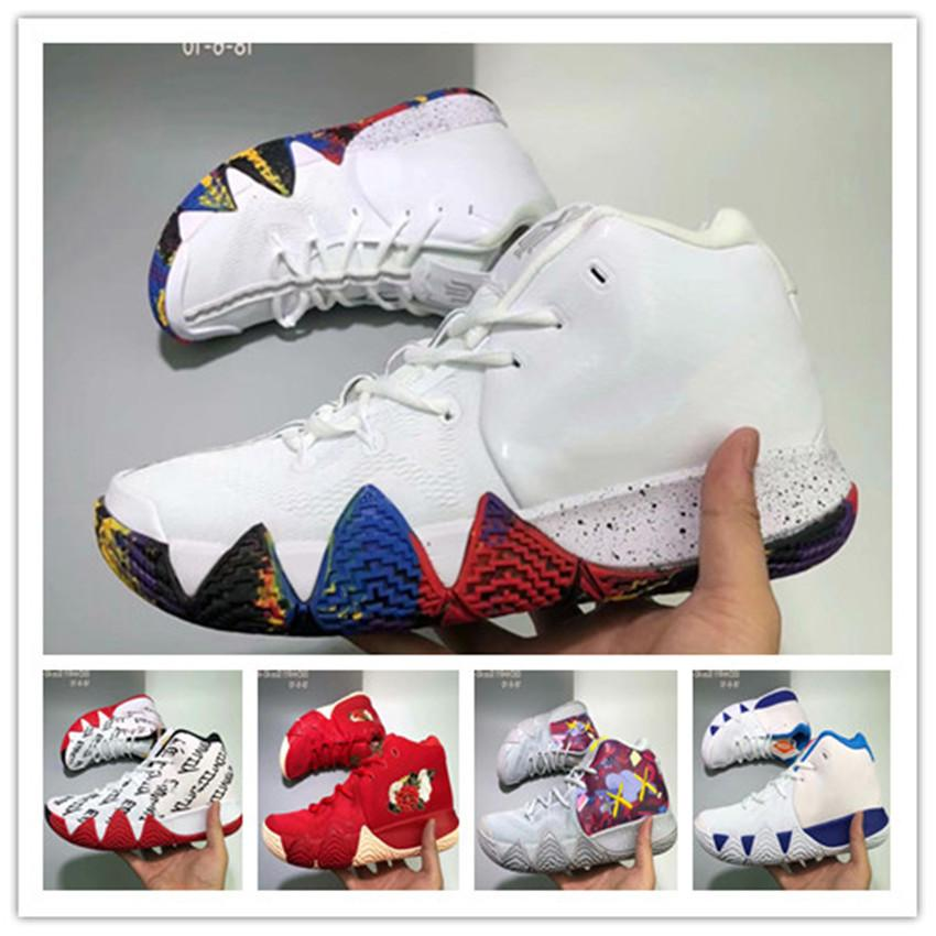 timeless design d4923 601c2 Men Basketball Shoes Kyrie IV 4s Confetti Multicolor BHM EQUALITY All-Star  March Madness City Guardians Mamba Running Shoes mens sport shoes