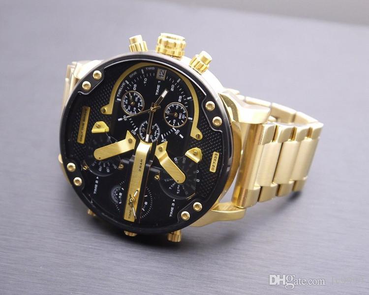 dceb8aeacd9 Compre 2019 Relógios De Luxo Dos Homens Mais Vendidos De Pulseira De Couro  À Prova D  água Relógio F1 DZ Relógios De Pulso Dos Homens De Quartzo  Militar Dz ...