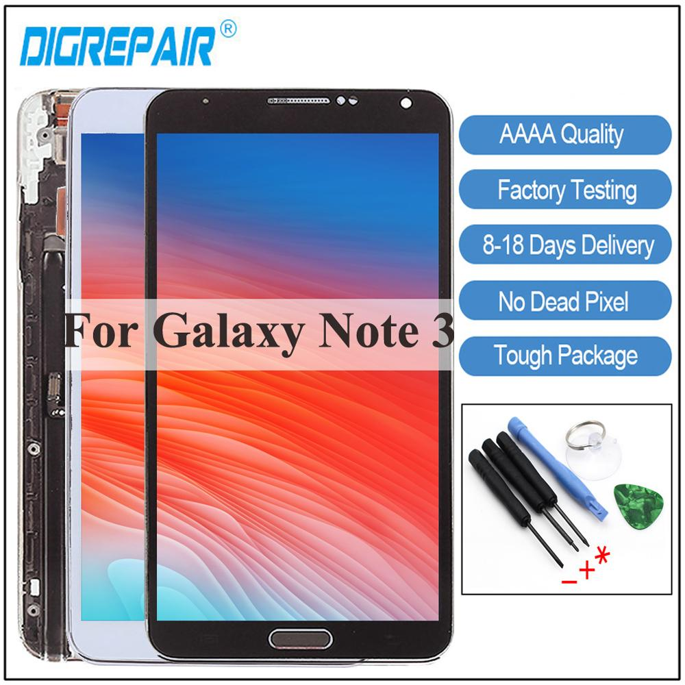 5 7'' For Samsung Note 3 N9005 LCD Display touch screen Digitizer With  Frame For Samsung Note 3 Display N9005 Screen Replacement
