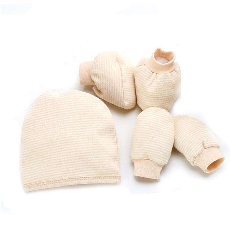 9e44b3e6915 Cotton Newborn Gloves Foot Cover Cap Suit Baby Protective Hats Foots Socks  Set White Socks Sexy Socks From Breadfruiter