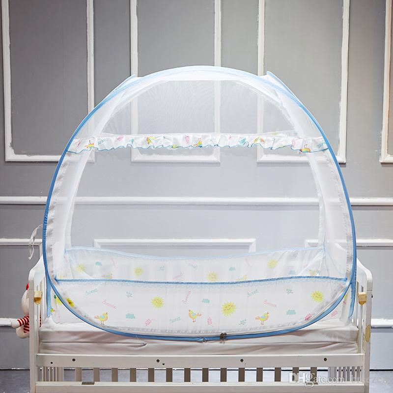 Ins hot style baby crib bed nets ger newborn children free installation bottom folding bed nets