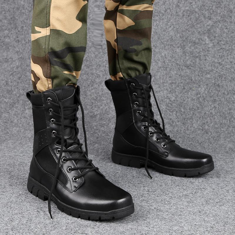 Otoño Invierno Hombres Botas Militares Calidad Especial Fuerza Táctica Desierto Combate Tobillo Barcos Ejército Zapatos de Trabajo Mantenga Botas de