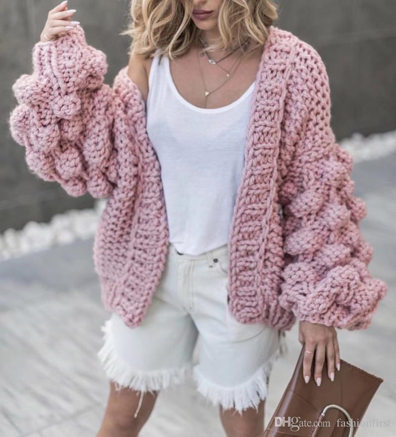 8dba1e04ae8 Bubble Cardigan Bomber jacket free shipping Chunky Long Sleeve knit  oversized cardigan Alpaca slouchy jacket Short cardigan