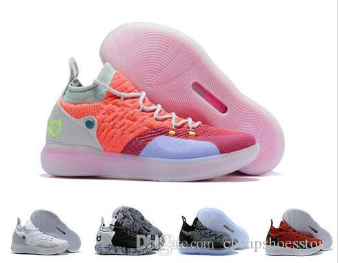 9e720a7ea87e 2018 New KD 11 Basketball Shoes Black Grey Persian Violet Chlorine Blue  Sneakers Kevin Durant 11s Designer Mens Trainers Chaussures Zapatos Mens  Basketball ...