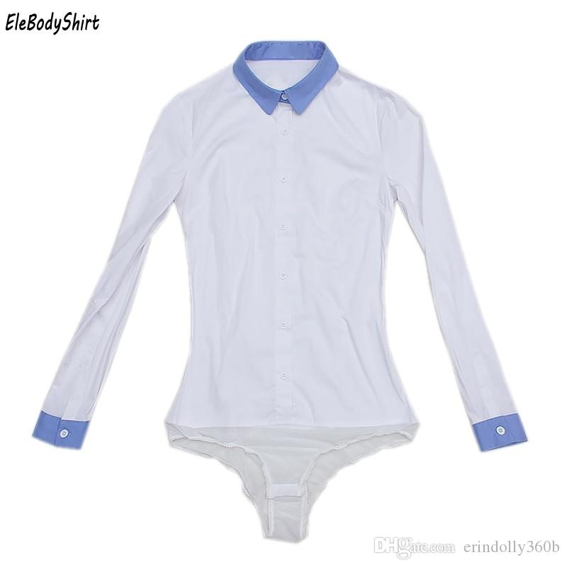 Compre Blusa 2018 Blusas Body Camisa Mujer Blusas Tops Camisas Moda Elegante  Para Mujer Formal Damas Oficina Casual Ropa De Manga Larga A  21.47 Del ... f100818ee796e