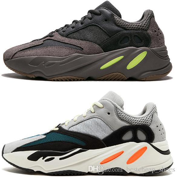 separation shoes ad540 6ad67 2019 Adidas Yeezy Boost 350 Kanye West New Wave Runner 700 Malva EE9614  Boost Wave Runner Hombre Zapatillas De Correr Mujeres Negro Blanco Azul  Gris ...