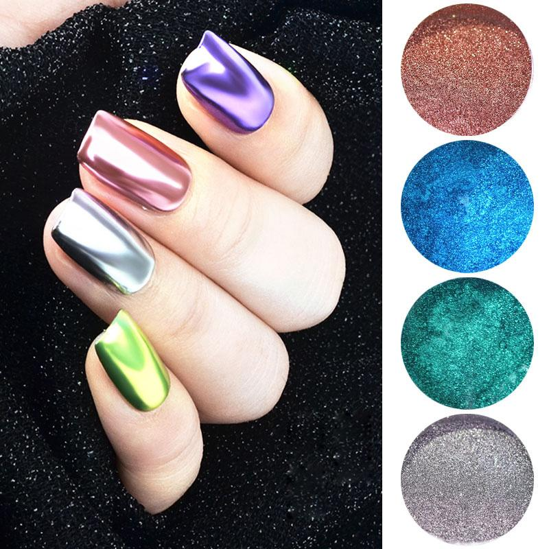 f8dd26b3e7 0.3g Laser Rose Gold Chrome Nail Art Glitters Holo Magic Mirror Powder Neon  Optic Highlight Dust Manicure UV Gel Polish DIY New