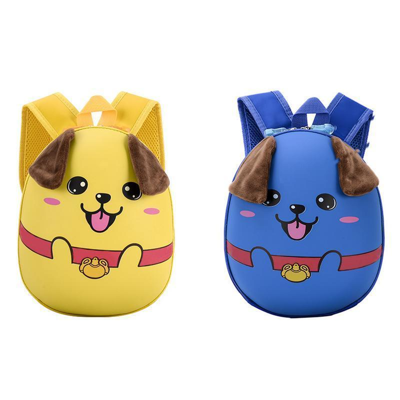 Fashionable Waterproof Backpack Bags Korean Style All-match Cartoon Cute Puppy Pattern Hard Shell Children Backpack School Bag