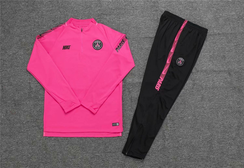 bded6dd841 Compre 2020 Nova Boa Qualidade 18 19 Novo Seanson Paris Jaqueta Rosa 2019  Psg Treino Cavani Futebol Sportswear Mbappe Fora Terno De Treinamento De  Futebol ...