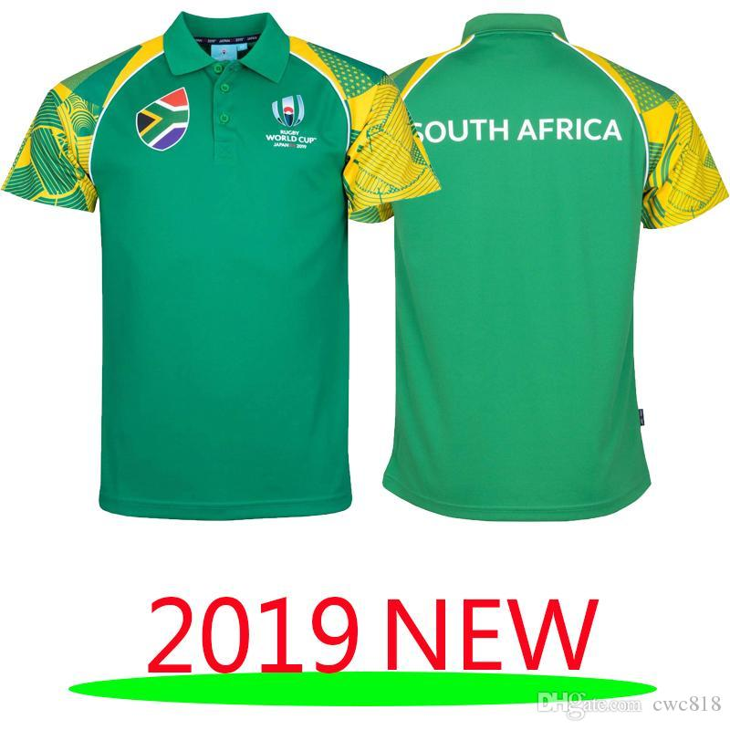 ebe5a17d 2019 SOUTH AFRICA RUGBY SUPPORTER POLO 2018 2019 South Africa Home ...