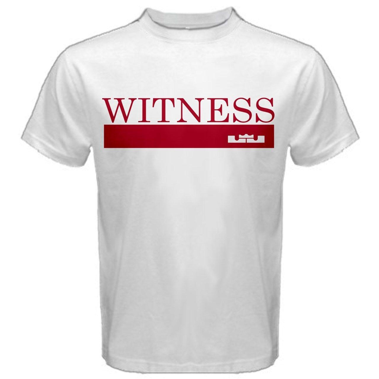 buy online e9236 9bf82 Lebron James King Crown Witness Cavs 23 New T-SHIRT TEES LJ1