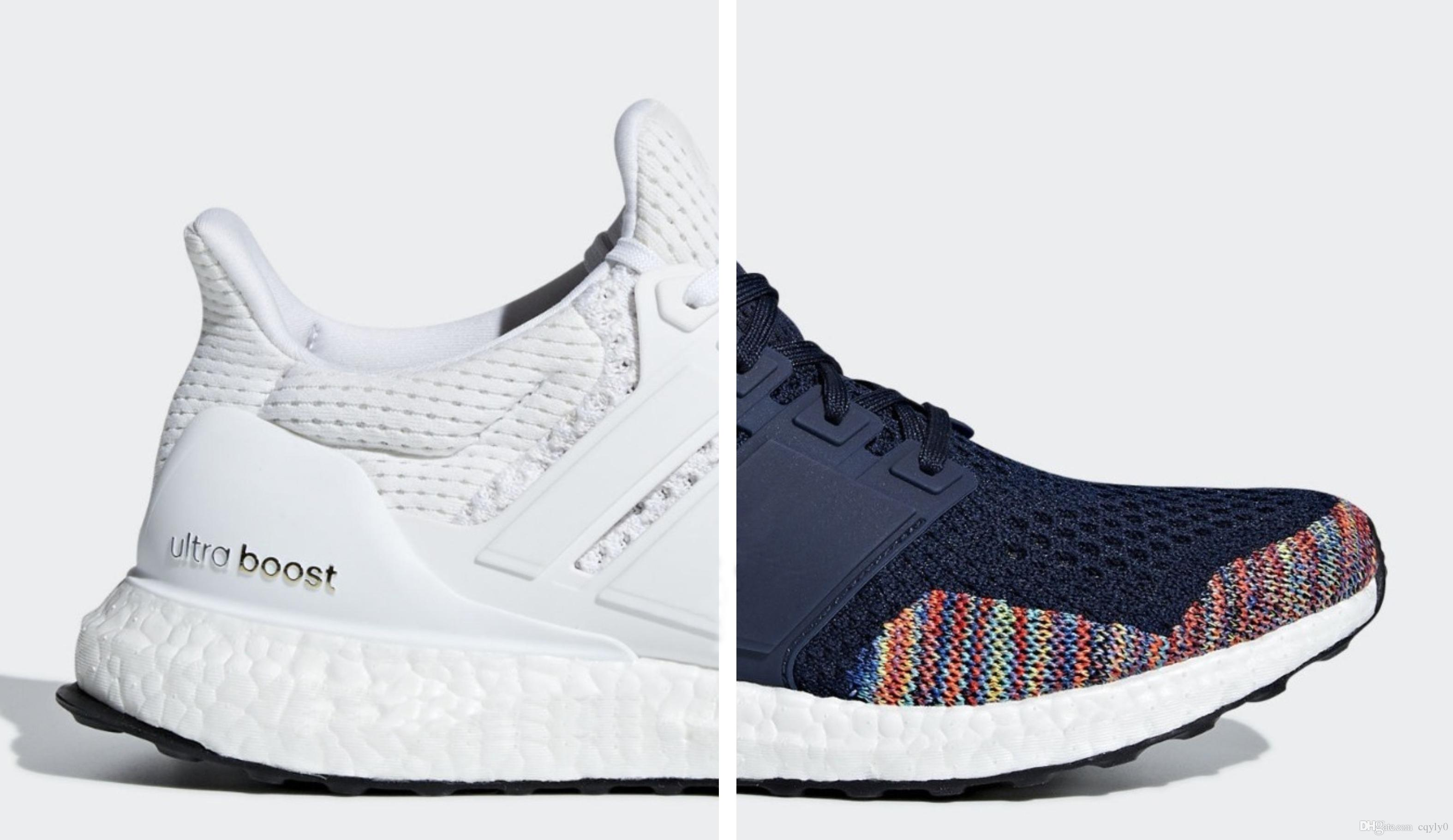 c8d4ac8cfcf High Quality Ultra Boost 1.0 LTD Multicolor Rainbow Toe Shoes New Limited  Men Ultraboost UB 1 Multi White Navy PK Sneakers Size 40-45