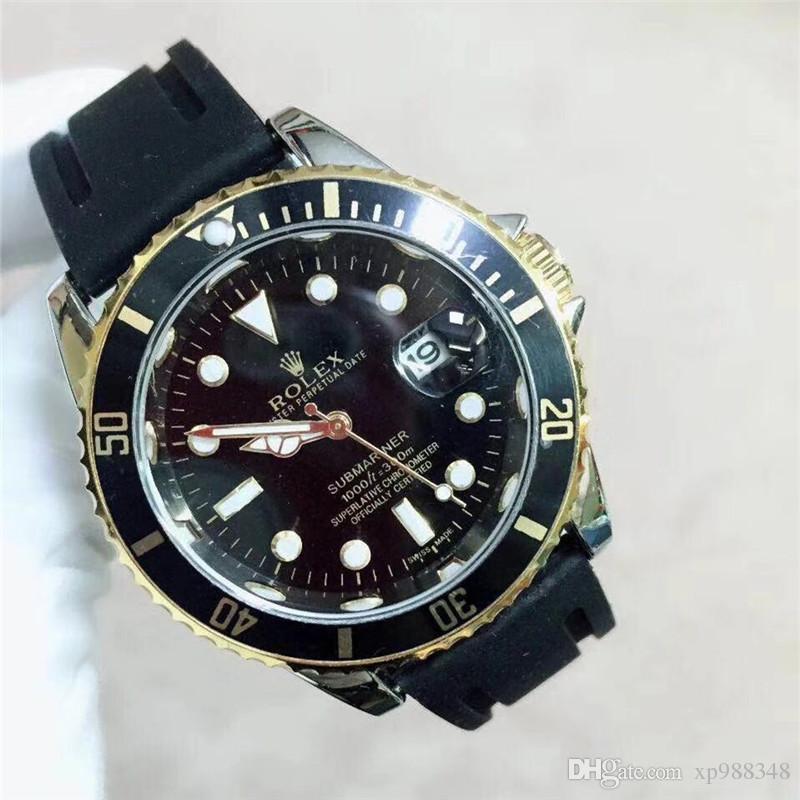 8041442cc6cc Compre Negro Aaa Relojes De Lujo Para Hombres Correa De Silicona Señoras  Reloj De Cuarzo Bisel Giratorio Hombres Y Mujeres Reloj Deportivo Vestido  Reloj De ...