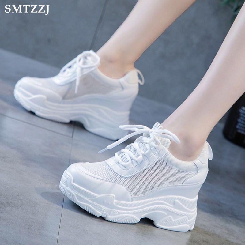 Blanc Femmes Forme 2019 Doux Hauteur Semelle Bottillons Flats Smtzzj Argent Chaussures Épaisse Compensée Plate Haut Dames Plat Intérieur fybY76gv