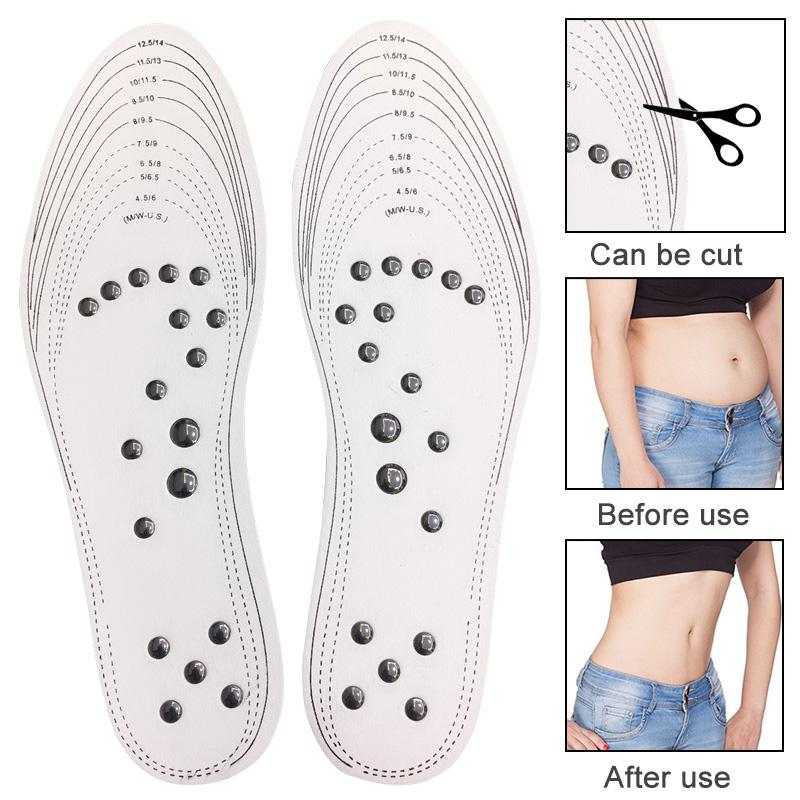 1 Pair Acupressure Slimming Insoles Foot Massager Magnetic Therapy Weight Loss Massage Insole zapatos mujer