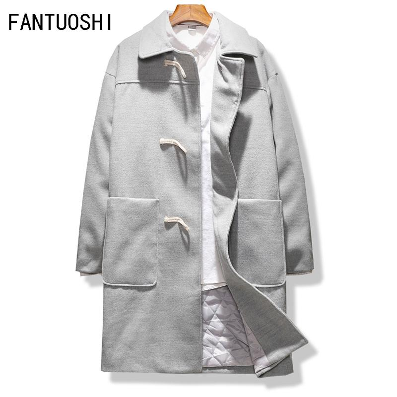 781205b9cf4 2019 Men Overcoat New Arrival Fashion Trench Coat Men Plus Size 5XL Trench  Solid Woolen Coat Casual Jacket Black Grey From Cupidcloth
