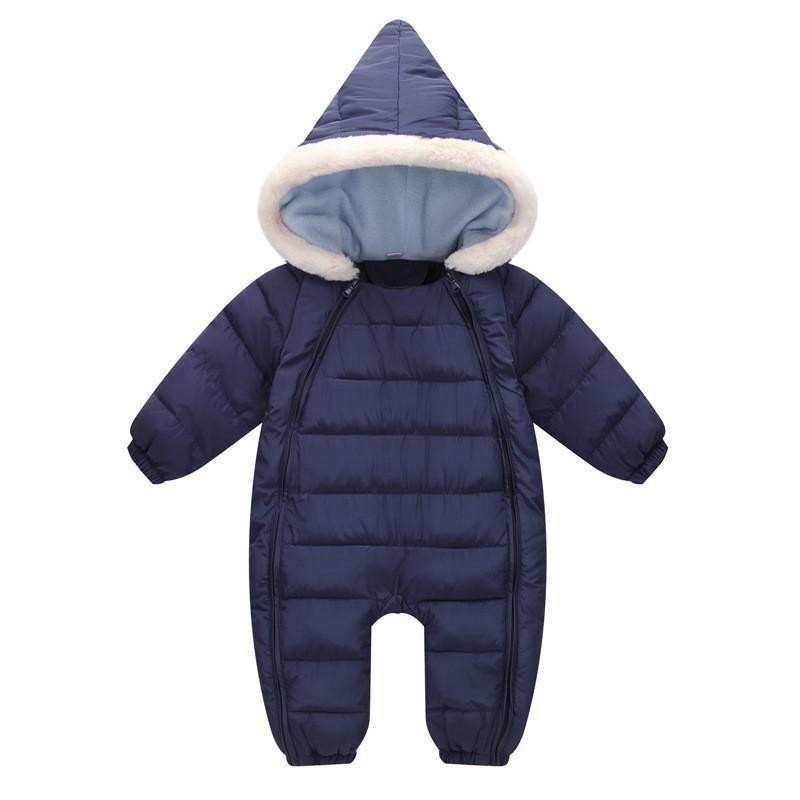 bafb570399e2 2019 Good Quality Baby Boys Rompers Winter Cartoon Hooded Warm ...
