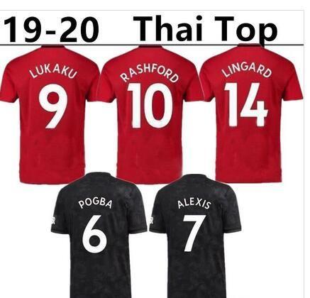 ee670d30b 19 20 Man Third Home Soccer Jerseys FRED POGBA LUKAKU 9 HOME Away ALEXIS 7 2019  2020 RASHFORD 10 LINGARD 14 United FOOTBALL SHIRTS RASHFORD LINGARD Online  ...